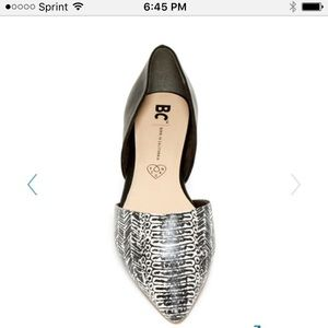 BC Footwear Shoes - NWT lizard print d'Orsay style flats.