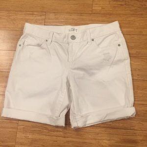LOFT Pants - Ann Taylor Loft white Denim shorts size 27