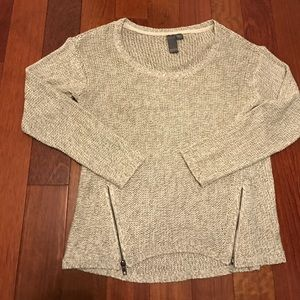 Sweaters - Gray Double Zipper Quinn Sweater