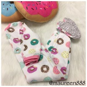 Carter's® Donut Patterned Fleece Footie PJ
