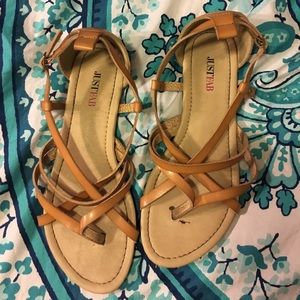 JustFab Shoes - JustFab tan sandals