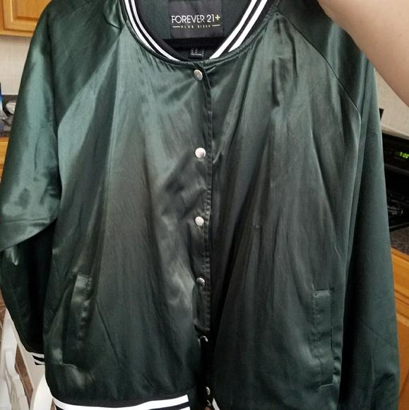 bb878d45f Emerald Green Satin Bomber Jacket