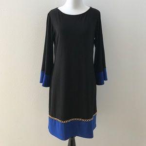 MSK Dresses & Skirts - MSK black dress with blue accents