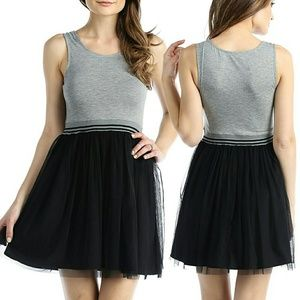 Chelsea Dresses & Skirts - MJ,LJ Sporty Tank & Black Tulle Mini Dress NWT