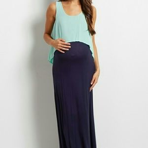 Pinkblush Dresses & Skirts - Mint Navy Overlay Maxi Dress