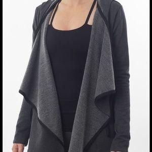 Nux Sweaters - Nux Denver Wrap, Charcoal, Large