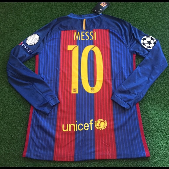 42f2a1af5 Barcelona MESSI Soccer Jersey Champions League  10