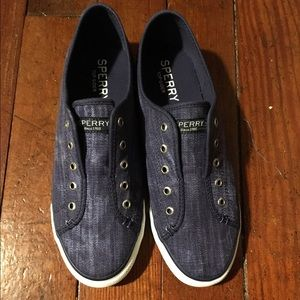 Sperry Shoes - New women's denim blue sperry top sider 8.5