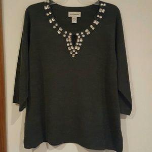 c d daniels Sweaters - Grey sweater rhinestone