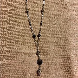 Lia Sophia Jewelry - Silver tone Lia Sophia Y necklace