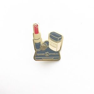 Vintage Accessories - Vintage Makeup Enamel Pin 💄