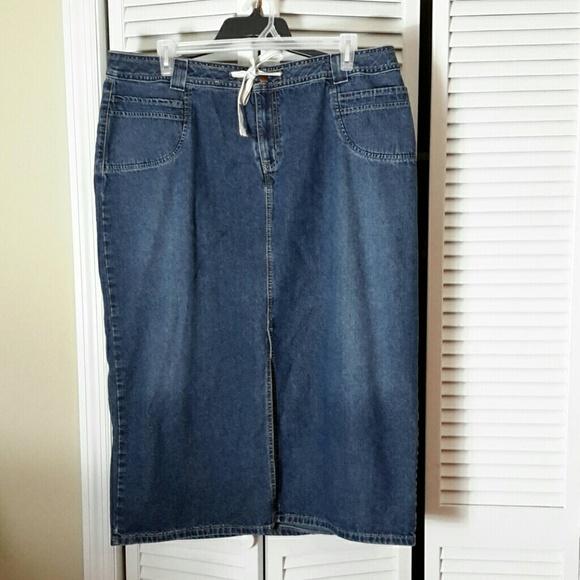 71a01c95f Venezia Skirts | Plus Size 20 Long Denim Skirt | Poshmark