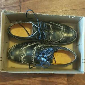 BED STU size 8 Queens wingtip