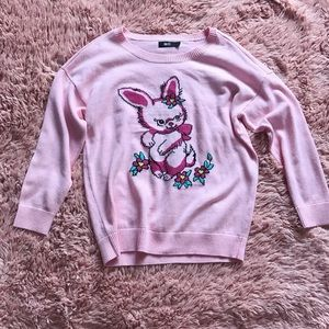 Iron Fist Sweaters - Iron Fist Pink Bunny Bunch Sweater