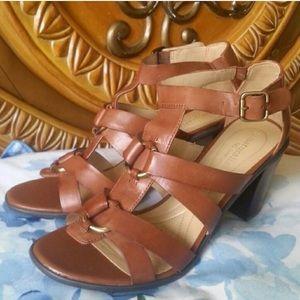 Naturalizer Shoes - Naturalizer dark camel leather sandals