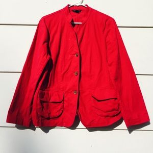 Lands End Jackets & Blazers - Lands End Women's Pink Jacket Blazer Sz 14