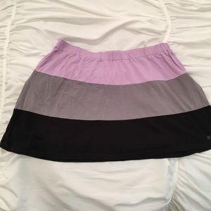 Roxy Dresses & Skirts - ROXY  Colorblock Violet, Gray & Black Mini Skirt