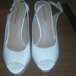 ANTONIO MELANI Shoes - Antonio Melani White Wedges