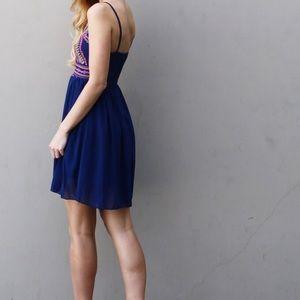 Dresses & Skirts - navy spaghetti strap dress