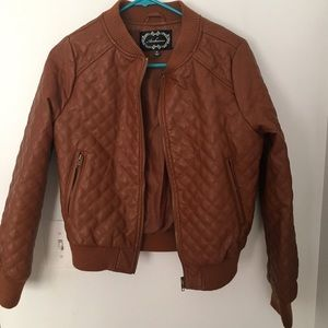 Jackets & Blazers - Brown Quilted Jacket
