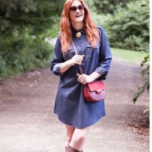 Fashion to Figure Dresses & Skirts - STEAL L👀K Fashion 2 Figure Chambray Dress Plus SZ