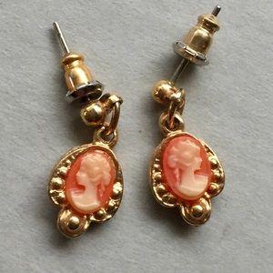 Vintage Cameo dangle earrings