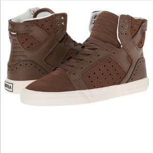 Supra Shoes - Supra brown suede sky top high tops