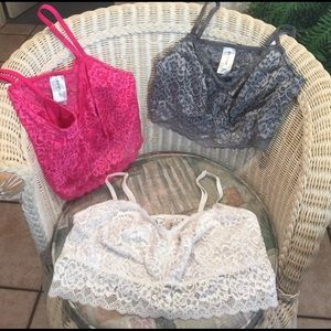 Deesse Lingerie Other - 3 Deesse stretchy lace Bralettes All Size 2X