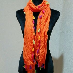 2 Chic Accessories - 2 Chic Colorful scarf with tassels
