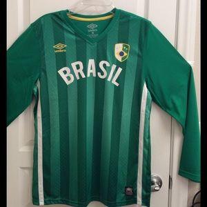 UMBRO, Brazil Green Jersey Shirt
