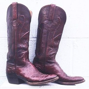 Lucchese Shoes - Lucchese Ostrich Cowboy Boots 6