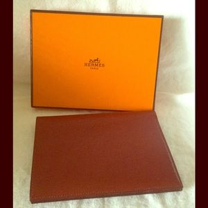 Hermes Handbags - Hermes Calfskin CardholderWallet Passport Bordeaux