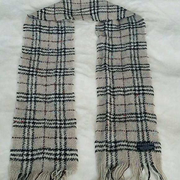 Burberry Accessories Scarf Muffler Plaid Novacheck Merino Wool