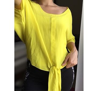 Marciano Tops - NEW Marciano Yellow 100% Silk Blouse Size Small