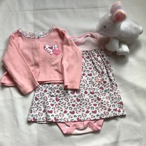 Bon Bebe Other - Pink dress with matching sweater bundle.