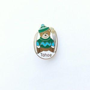 Vintage Accessories - Vintage Tahoe Teddy Bear Enamel Pin