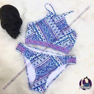 Other - High halter tribal bikini set