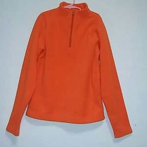 Obermeyer Other - Obermeyer Boys 3/4 Zip Neon Orange Sweater Sz XL