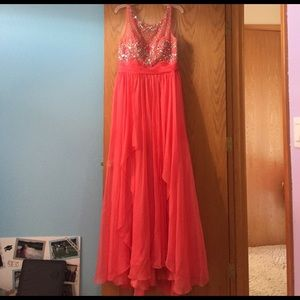 Dancing Queen Dresses & Skirts - Sleeveless Coral Formal Dress