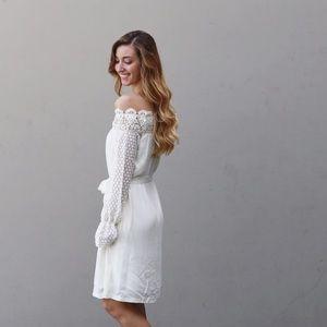 LAST ITEM ivory boho dress