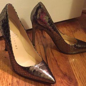 0100772eb823 Ivanka Trump Shoes - Silver Gray Snakeskin Ivanka Trump Pumps