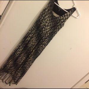 Daisy fuentes striped maxi dress