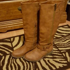 NWOT Justfab tall brown boots.