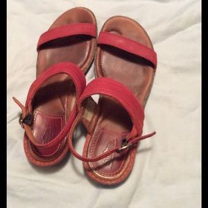 Simple Shoes - Simple Brand size 8 sandals. Red