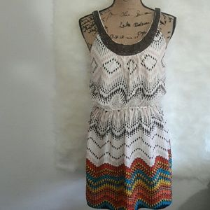 Dresses & Skirts - Sale Cute beaded printed dress size large
