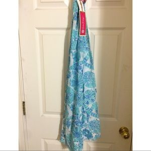 Lilly Pulitzer for Target Accessories - Lilly Pulitzer Blue Scarf Sarong Shells & Starfish