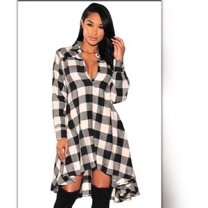 Dresses & Skirts - New high-low plaid dress