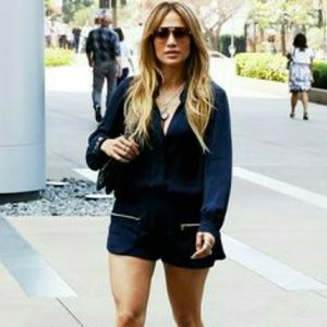 L'AGENCE Pants - As seen on J.Lo L'AGENCE blue shorts