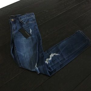 Ivan + Ryan Jeans - Ivan + Ryan 'Kim' Distressed Super Skinny Jean
