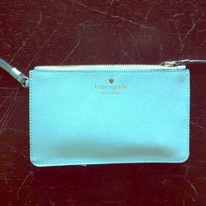 kate spade Handbags - •KATE SPADE• ♠️ light blue wristlet